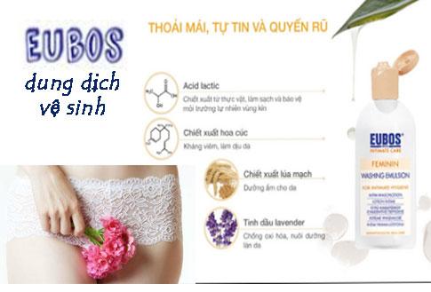 Dung dịch vệ sinh phụ nữ Eubos có tốt không ? Giá Bao Nhiêu