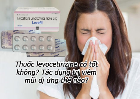 Thuốc levocetirizine có tốt không? Tác dụng trị viêm mũi dị ứng thế nào?